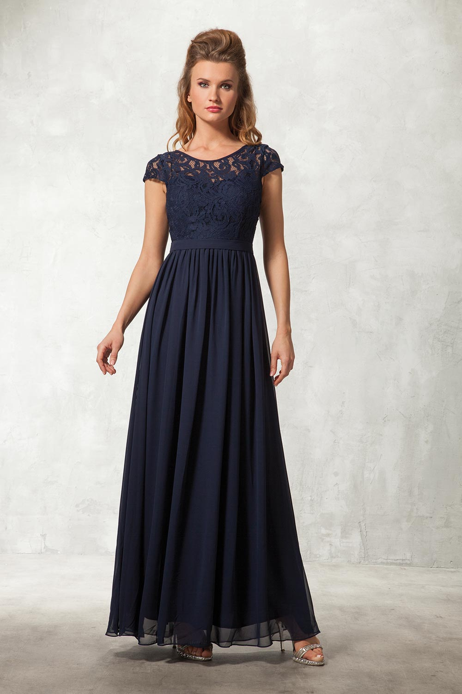 Vestidos de damas azul marinho